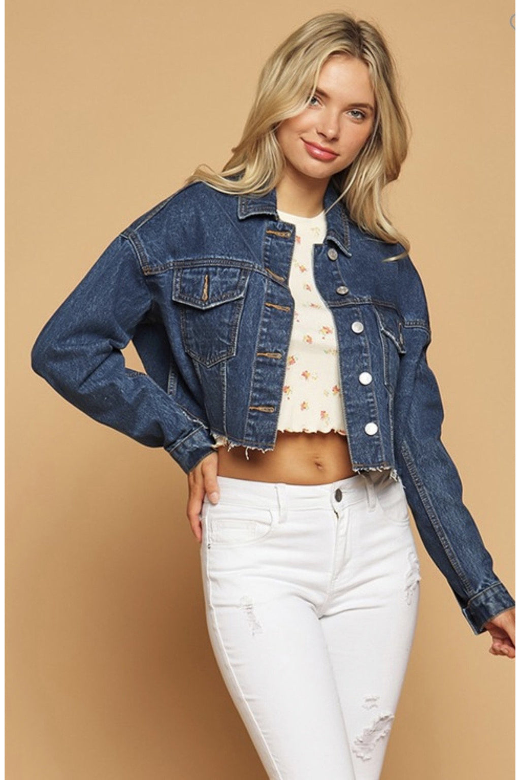 Delilah Denim Cropped Jacket $38