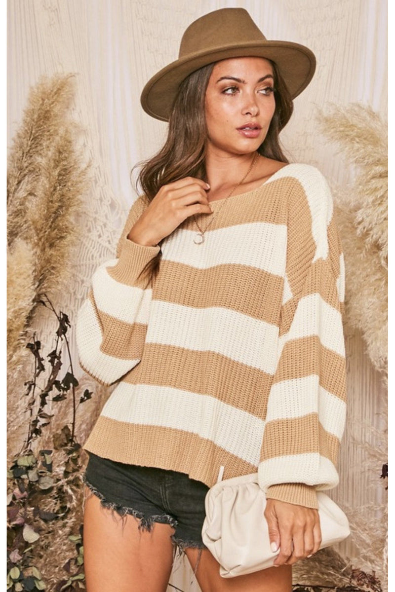 Imogen Striped Chunky Sweater