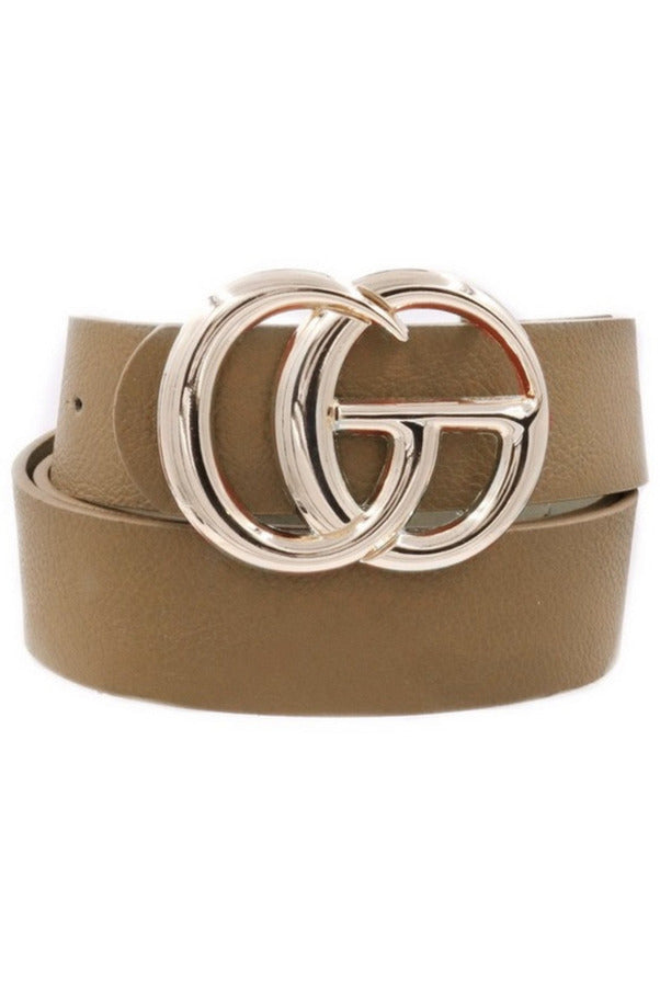 GG belt in Taupe