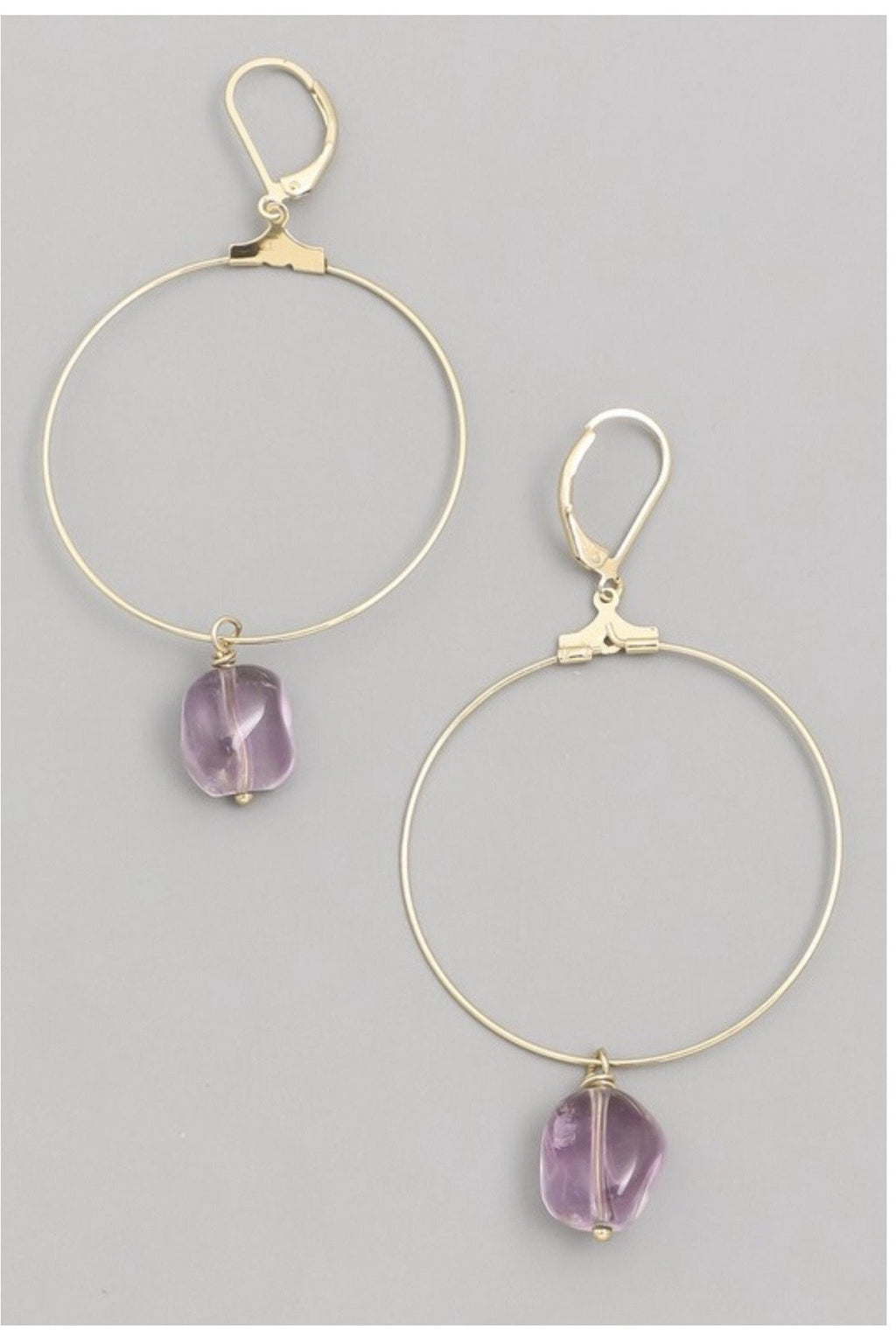 Amatista Hoop Earrings