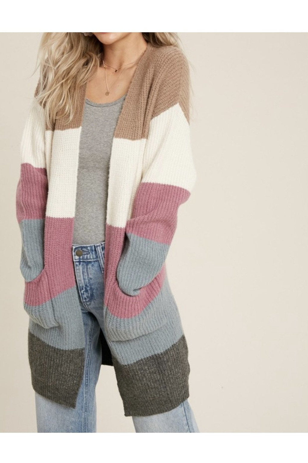 Coco Striped Cardigan