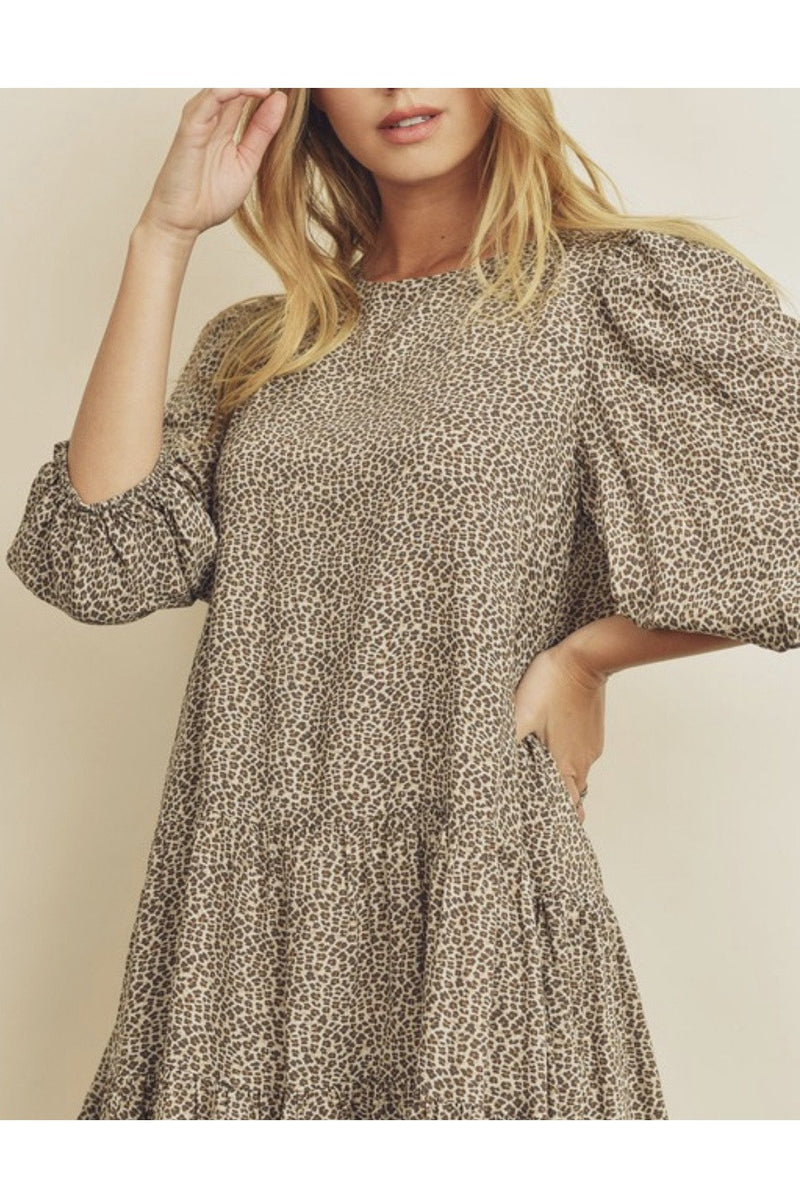 Dainty Bishop Sleeve Dress $58