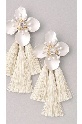 Bryanna Earrings in White