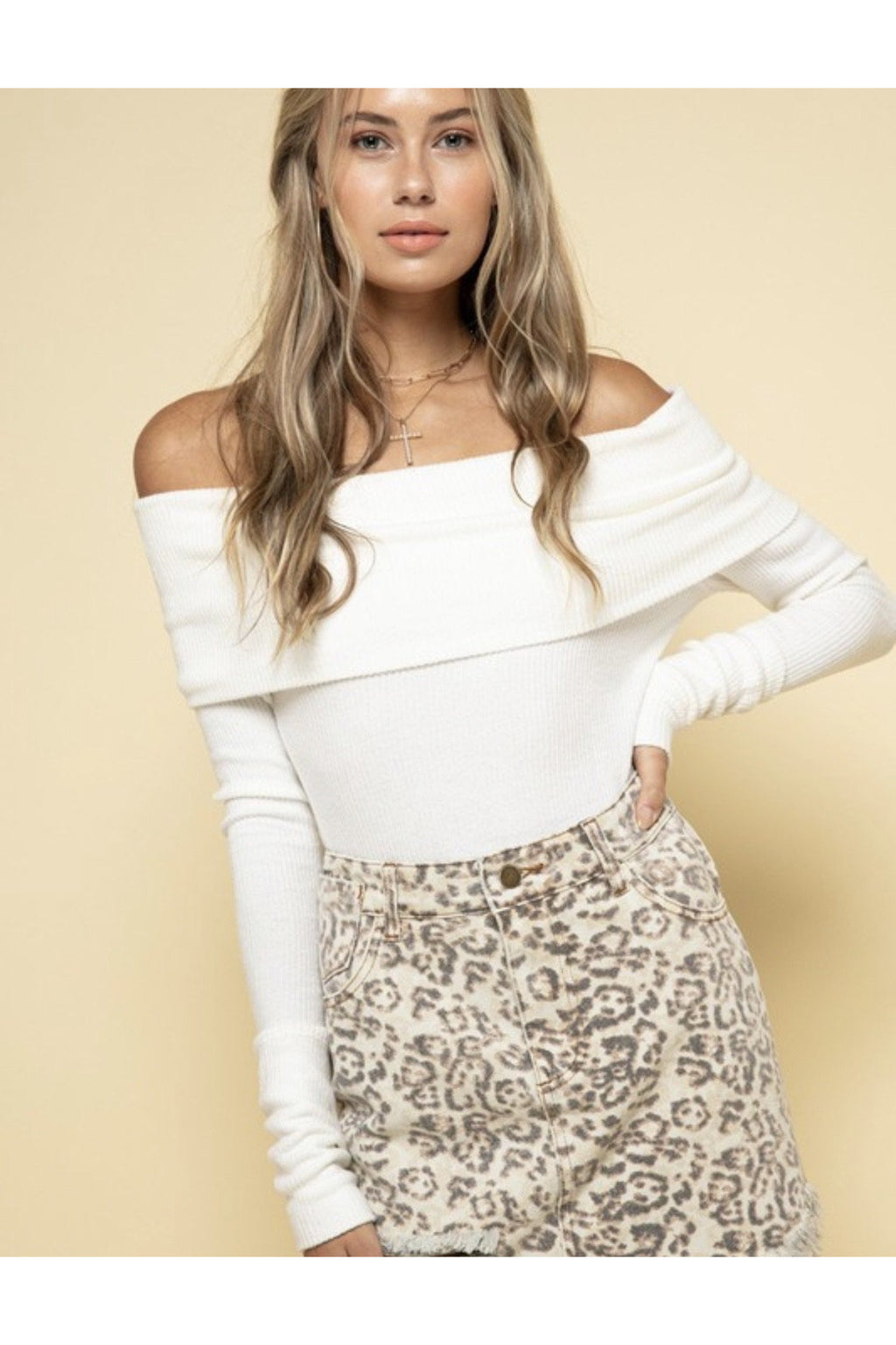 Teagan Off The Shoulder Top in White $44