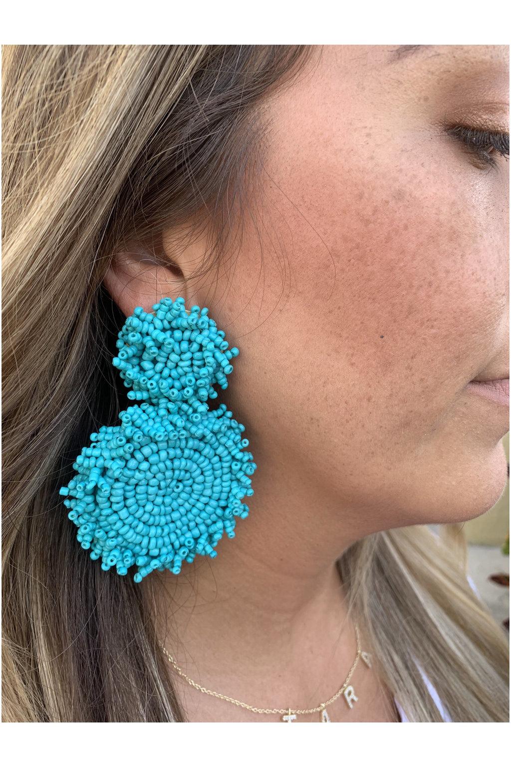 Bombay Earrings in Teal - Indigo Closet