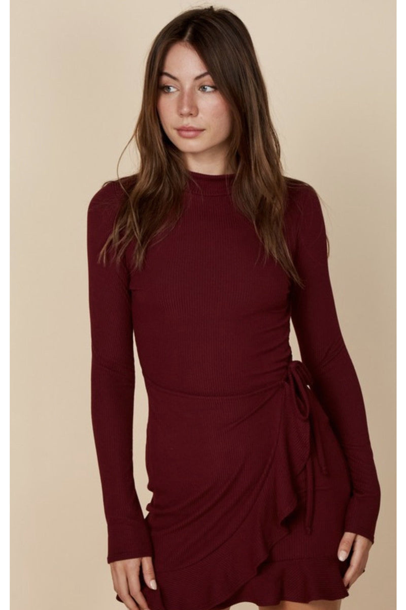 Natasha Ruffle Wrap Dress