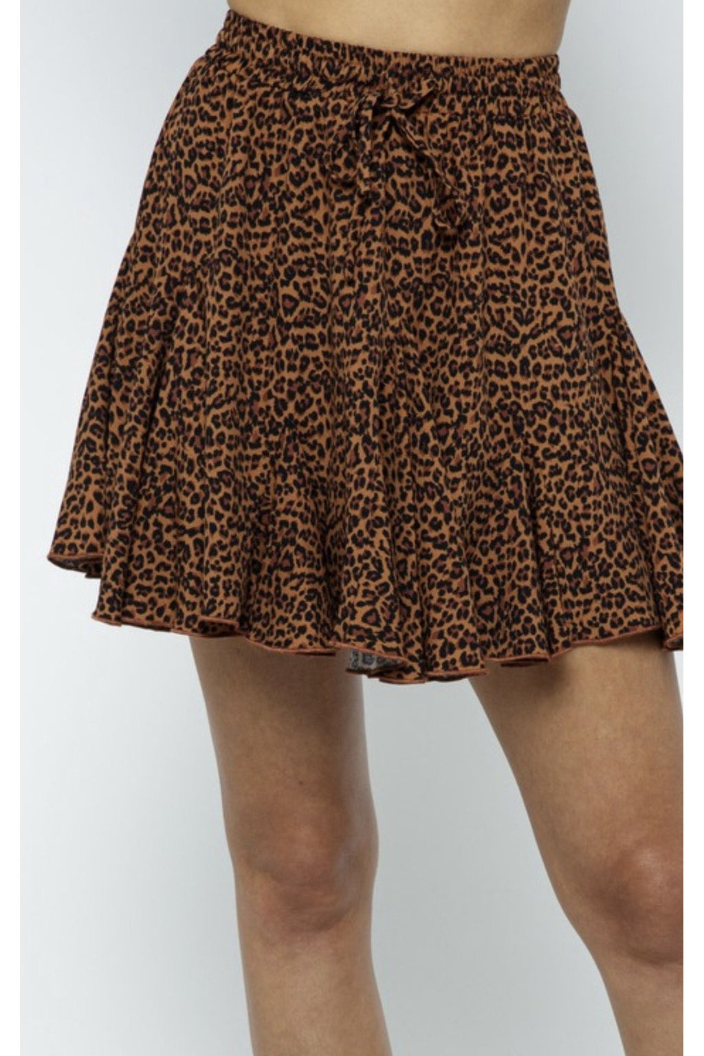 Rebel Leopard Mini Skirt