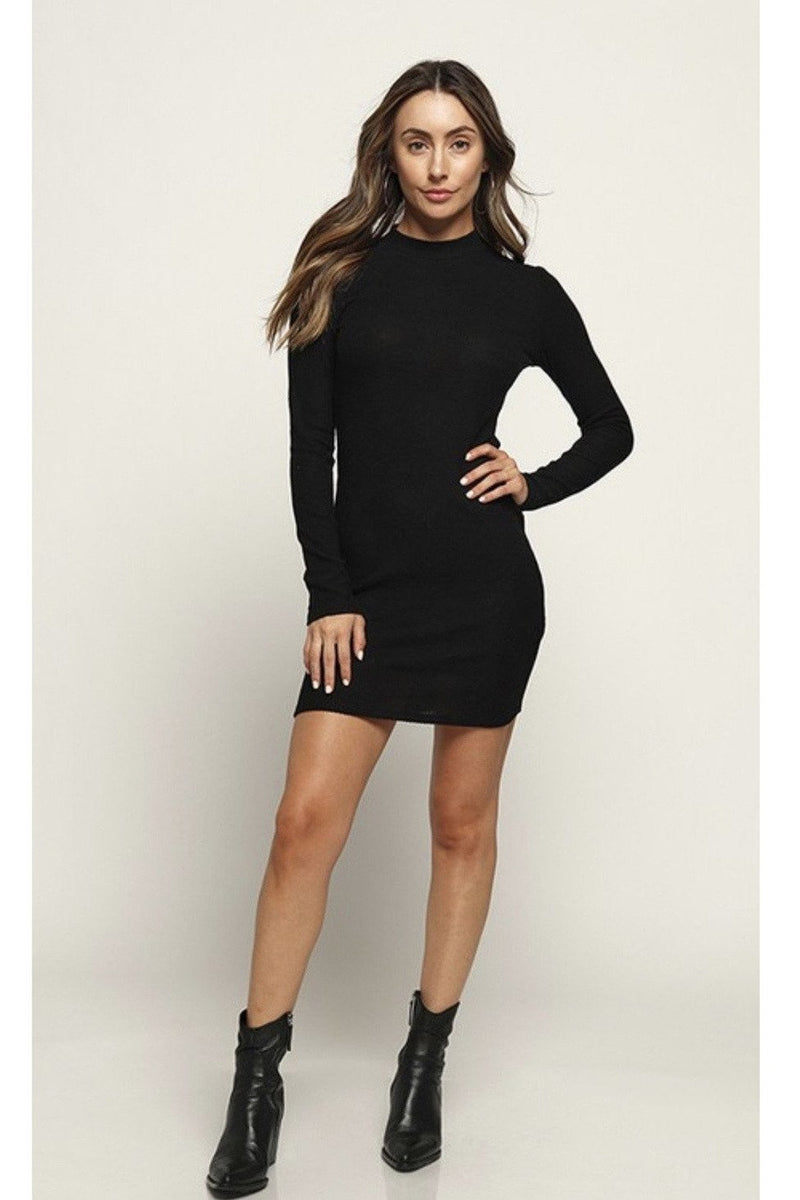 Isabella Mini Dress in Black