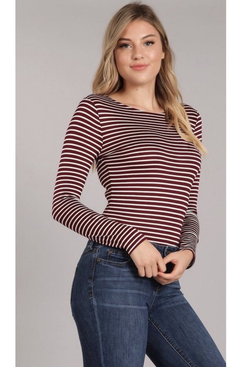 Aleena Striped Bodysuit