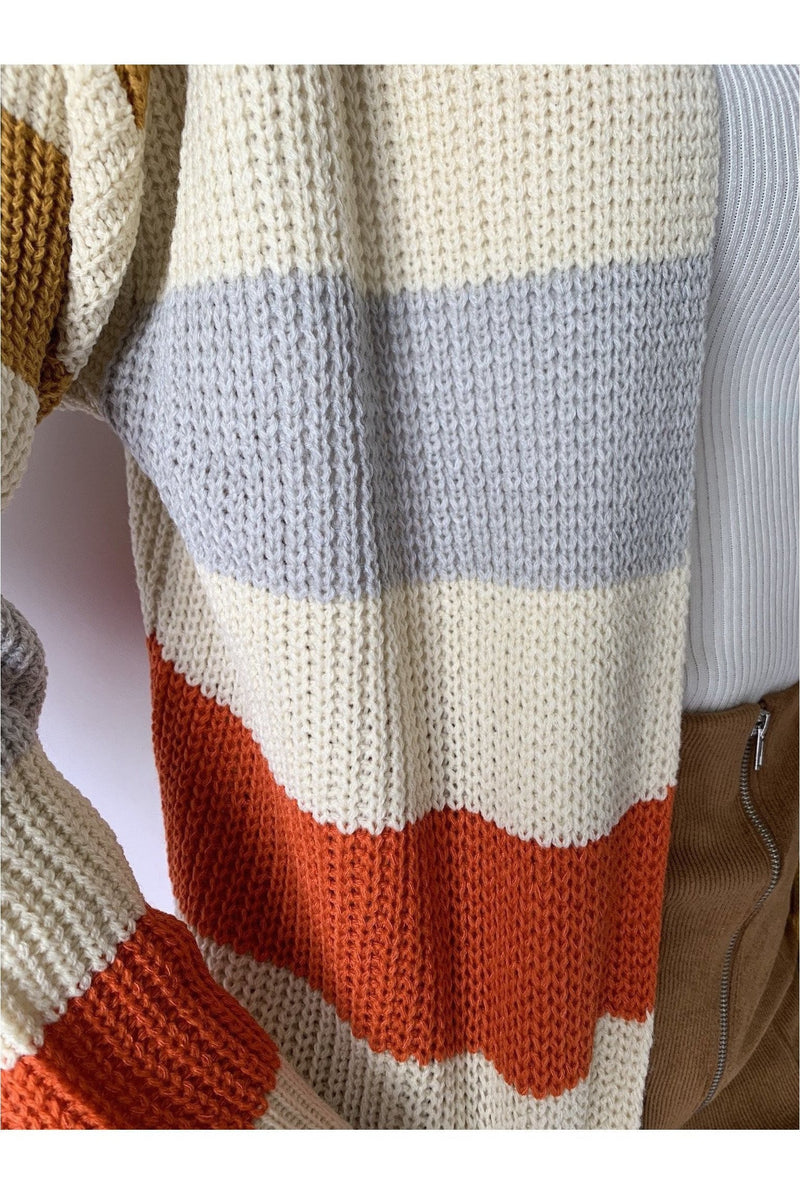 Midwest Striped Duster Sweater