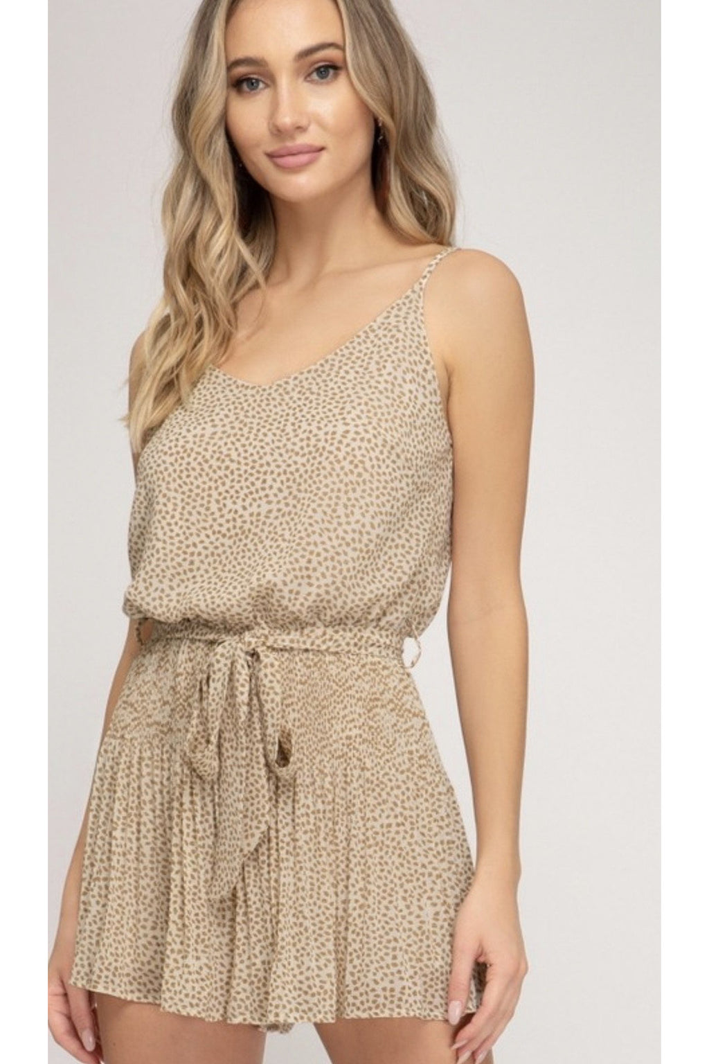 Evelyn Pleated Romper