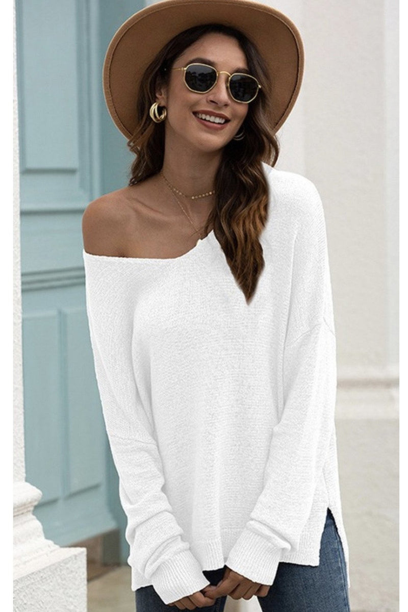 Kaelyn Knit Top in White