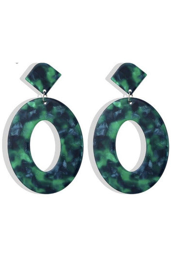 Eve Earrings in Emerald