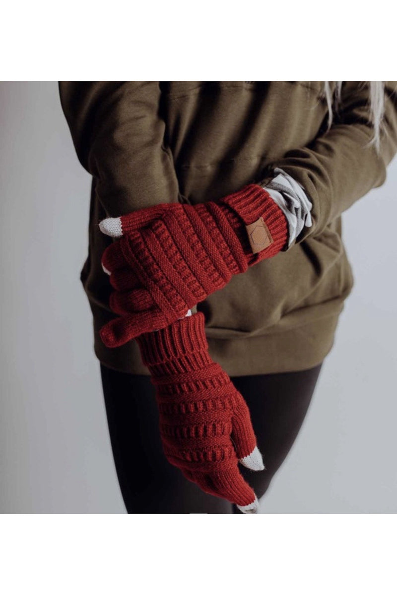 Maggie Gloves in Red