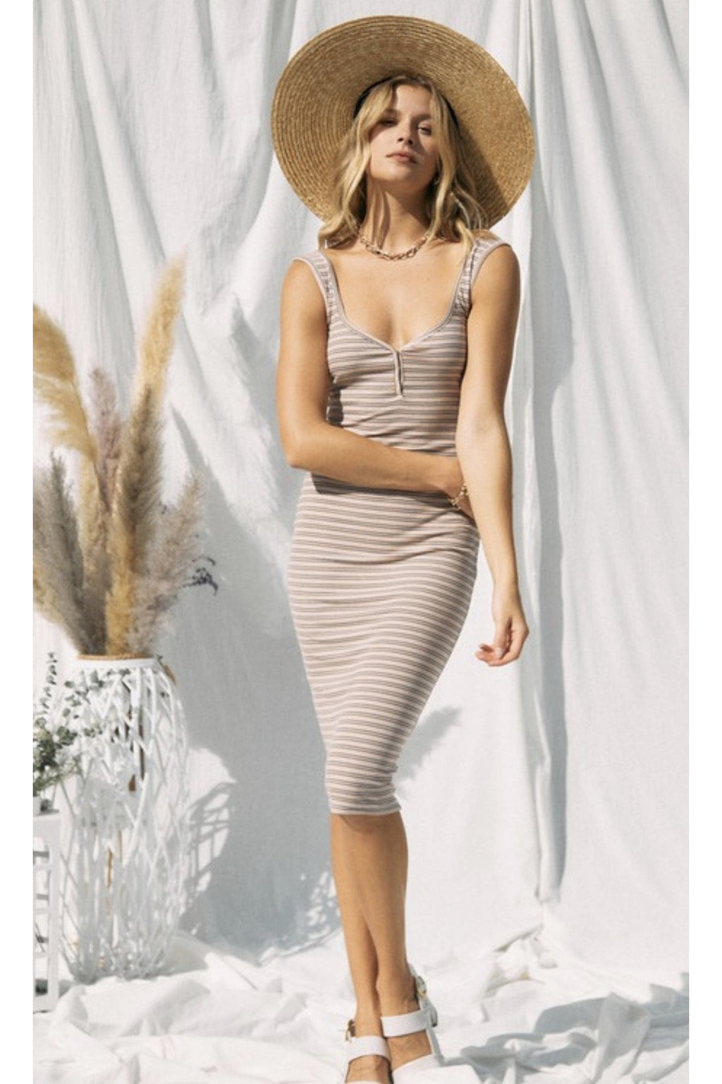 Fallon Striped Midi Dress $48