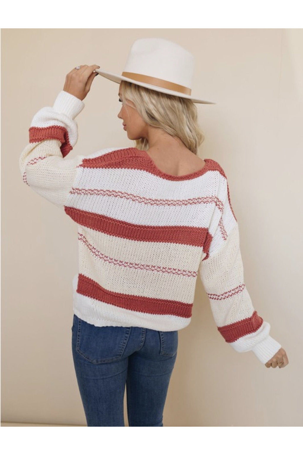 Roselyn Striped Sweater