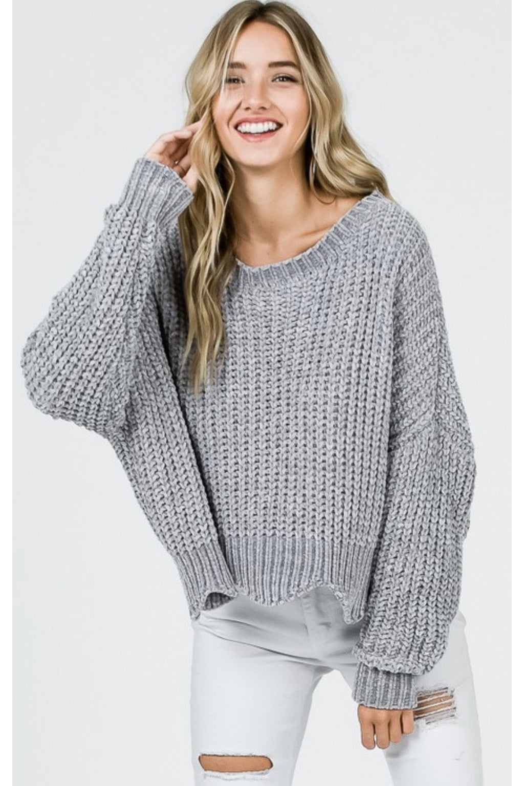 Wilomenia Wavy Sweater $48