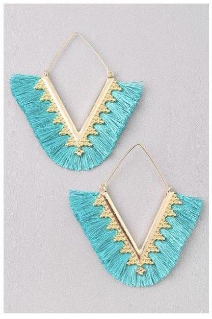 Bali Earrings in Turquoise - Indigo Closet