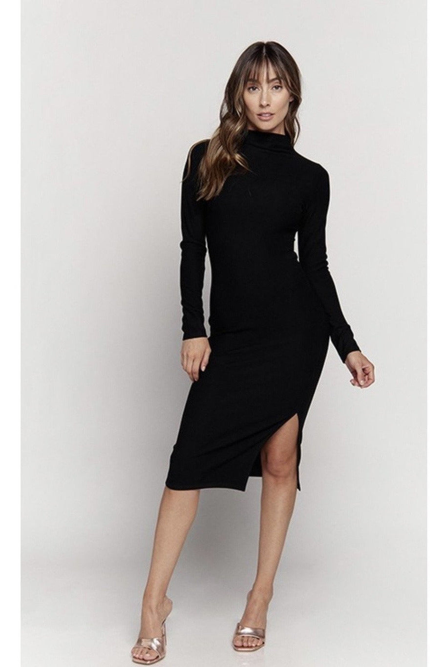Carrie Turtleneck Midi Dress