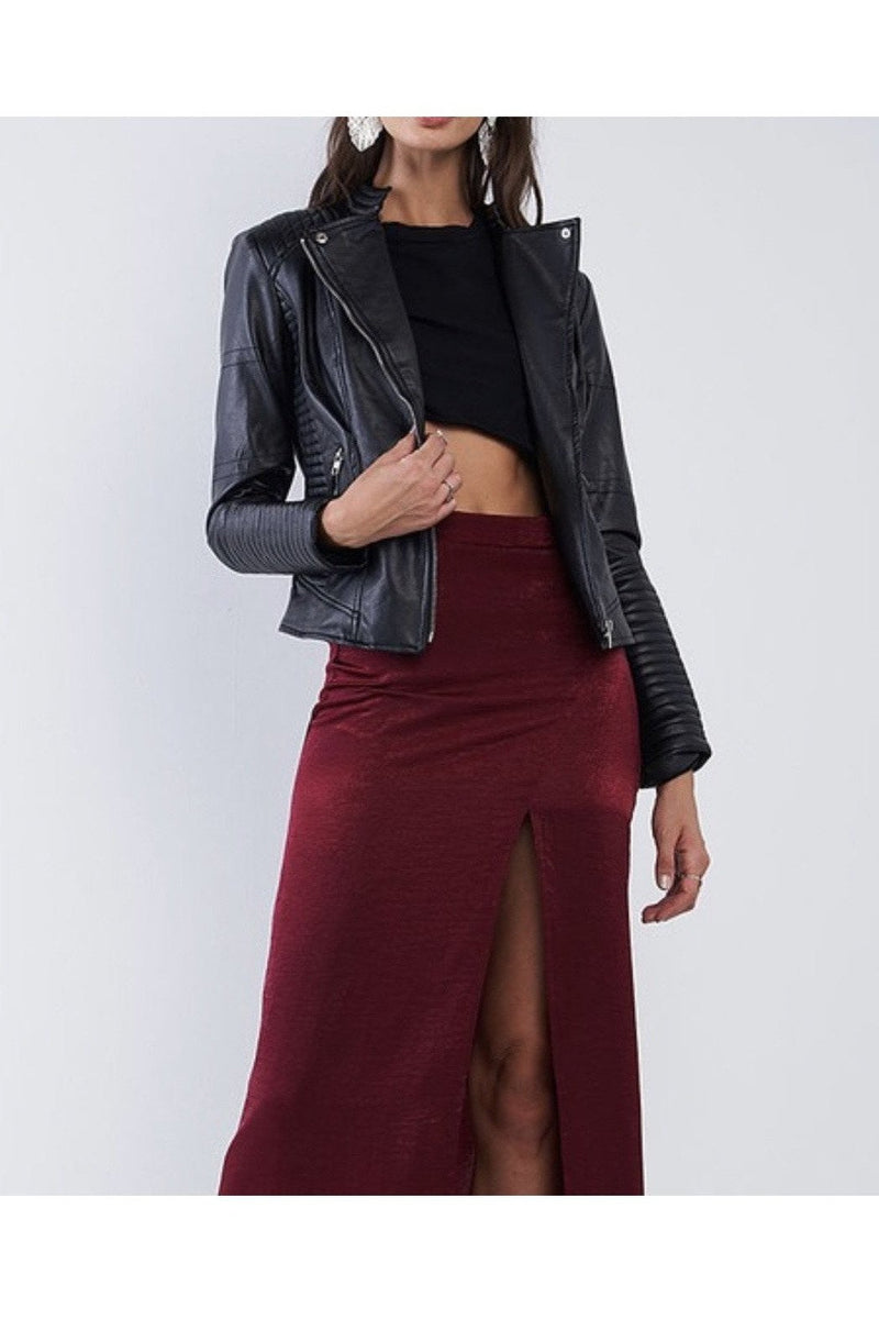 Janine Moto Faux Leather Jacket