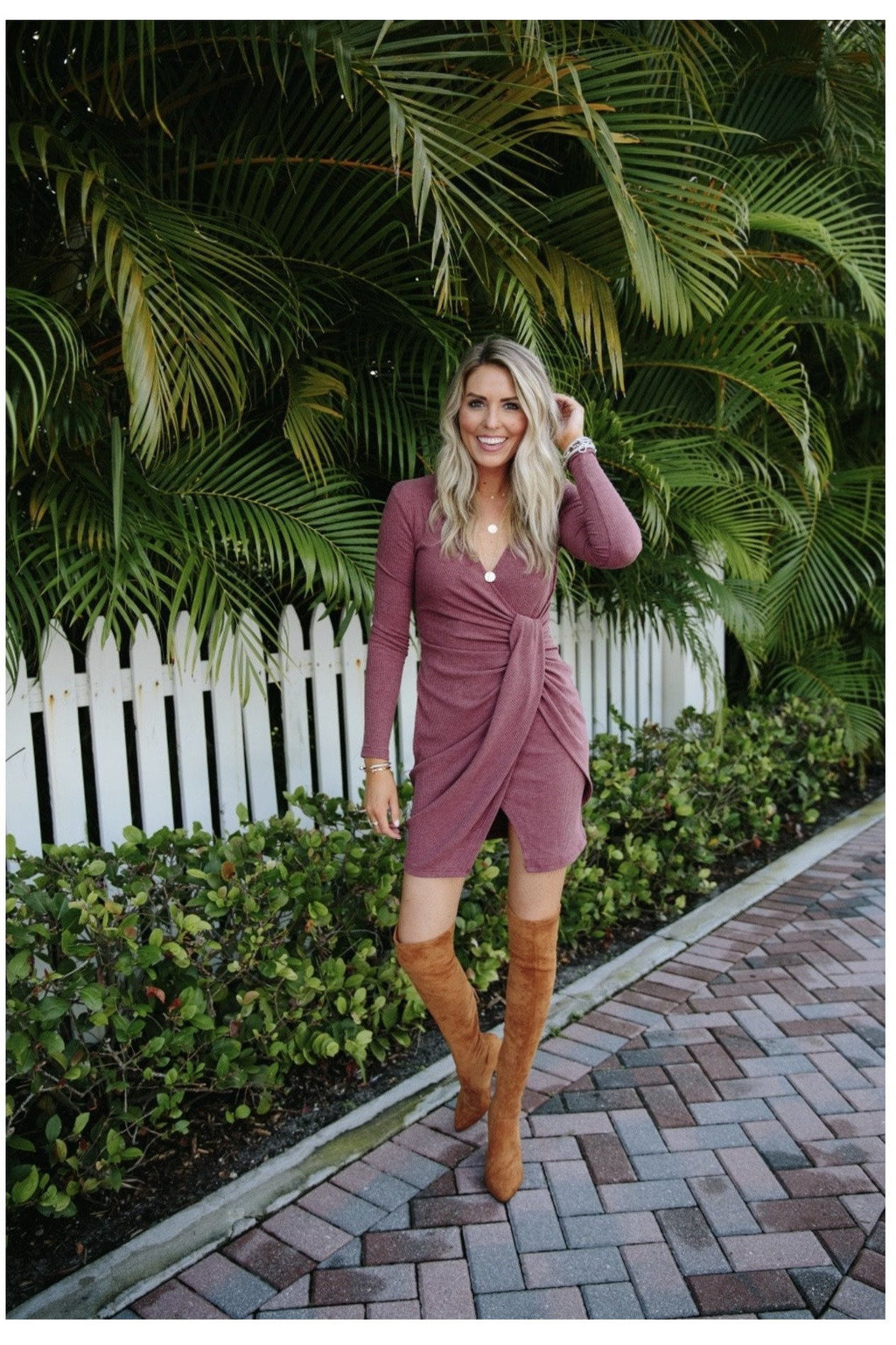 Teddi Dress in Wine