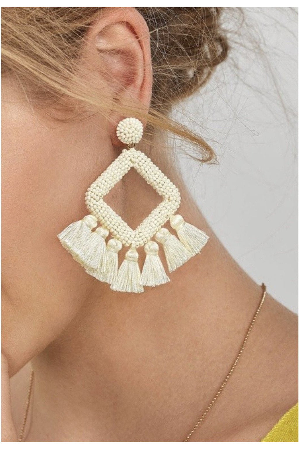 Cay Sal Earrings in Ivory - Indigo Closet