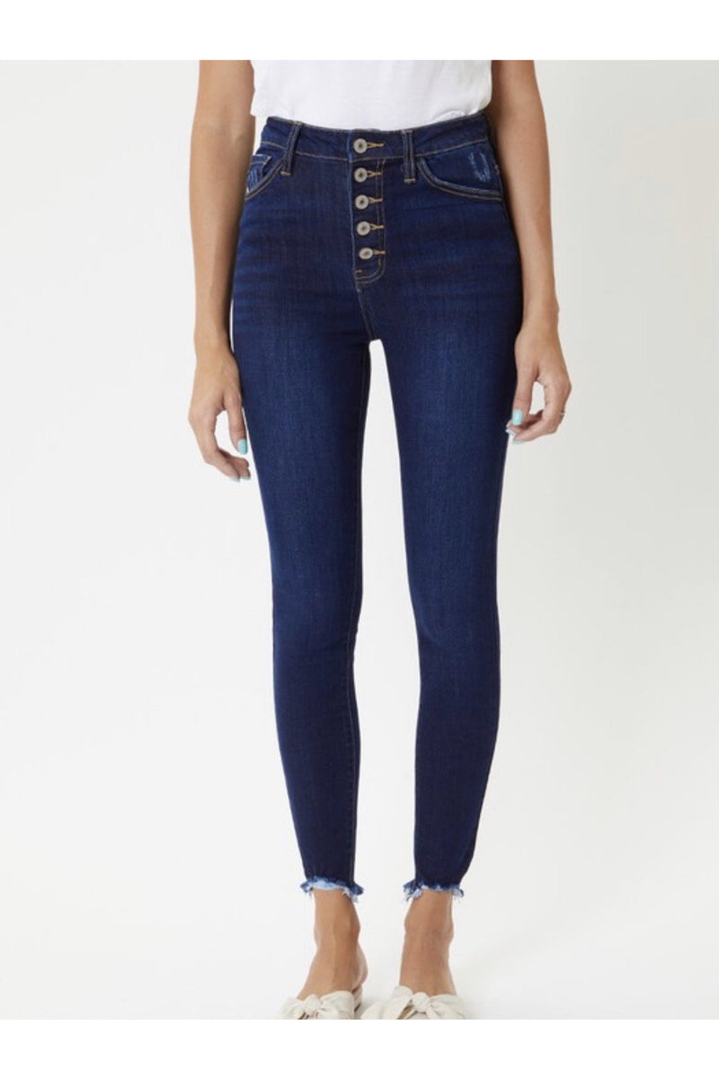Marci Button Fly Super Skinny Jeans $54