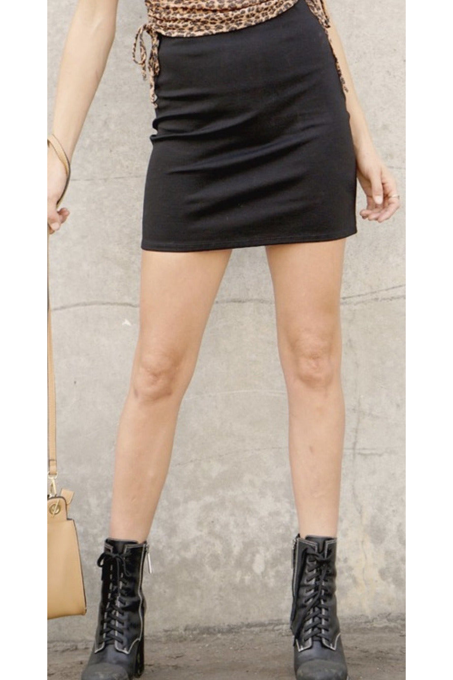 Mia Mini Skirt in Black $34