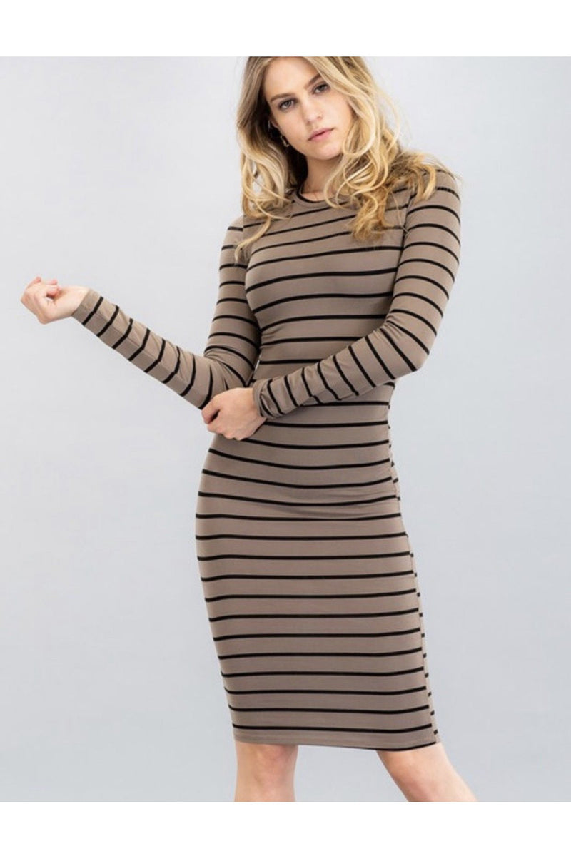 Sarina Striped Midi Dress