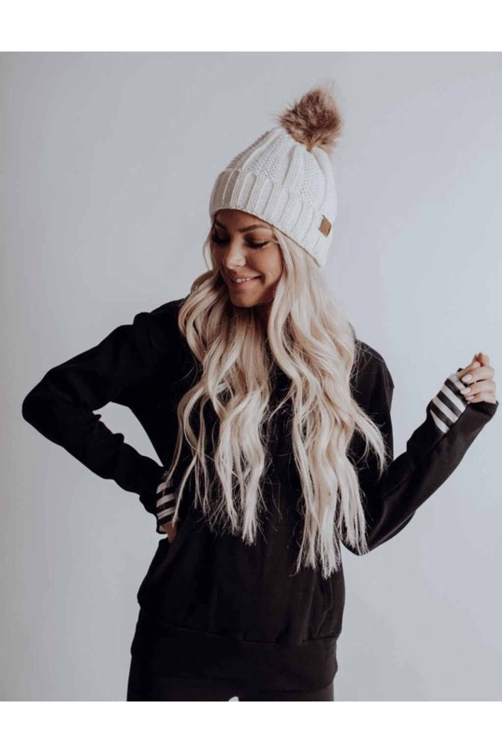 Maggie Beanie in Ivory