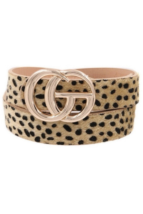 GG belt in Cheetah