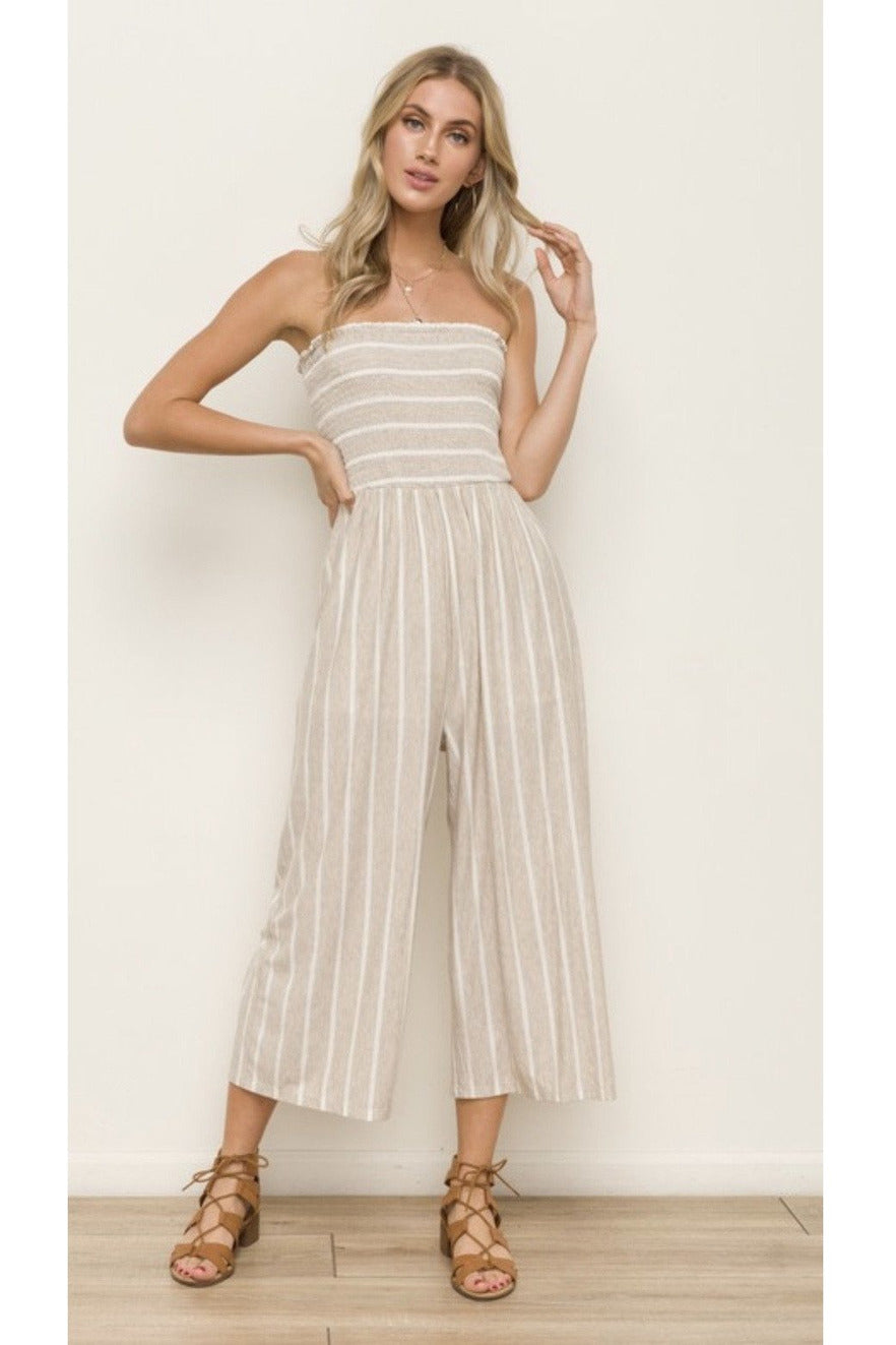 Positano Jumpsuit in Oatmeal