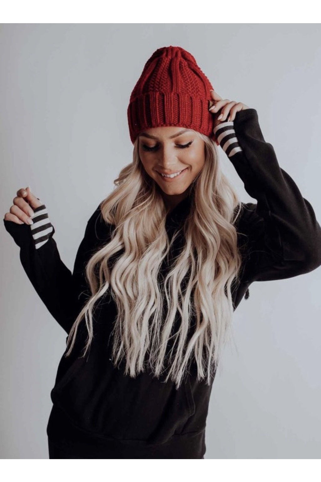Tyra Beanie in Red