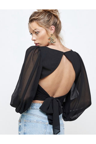 Kodey Mock Neck Crop Top $38