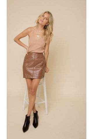 Limena Faux Leather Shorts