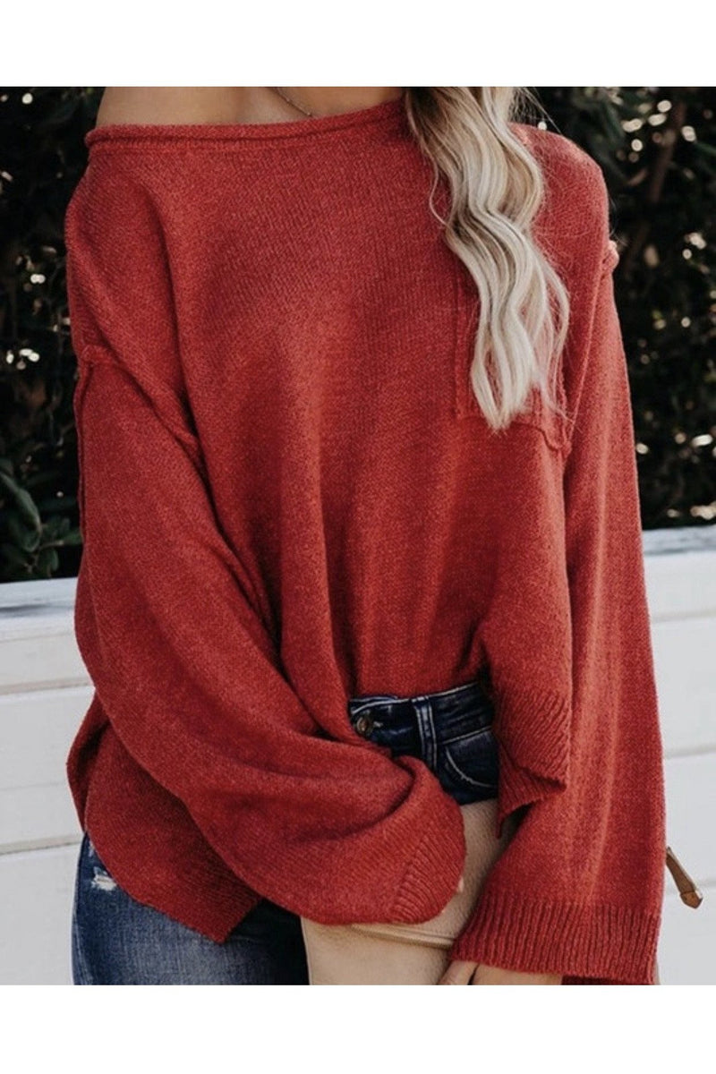 Weekend Cropped Top in Red
