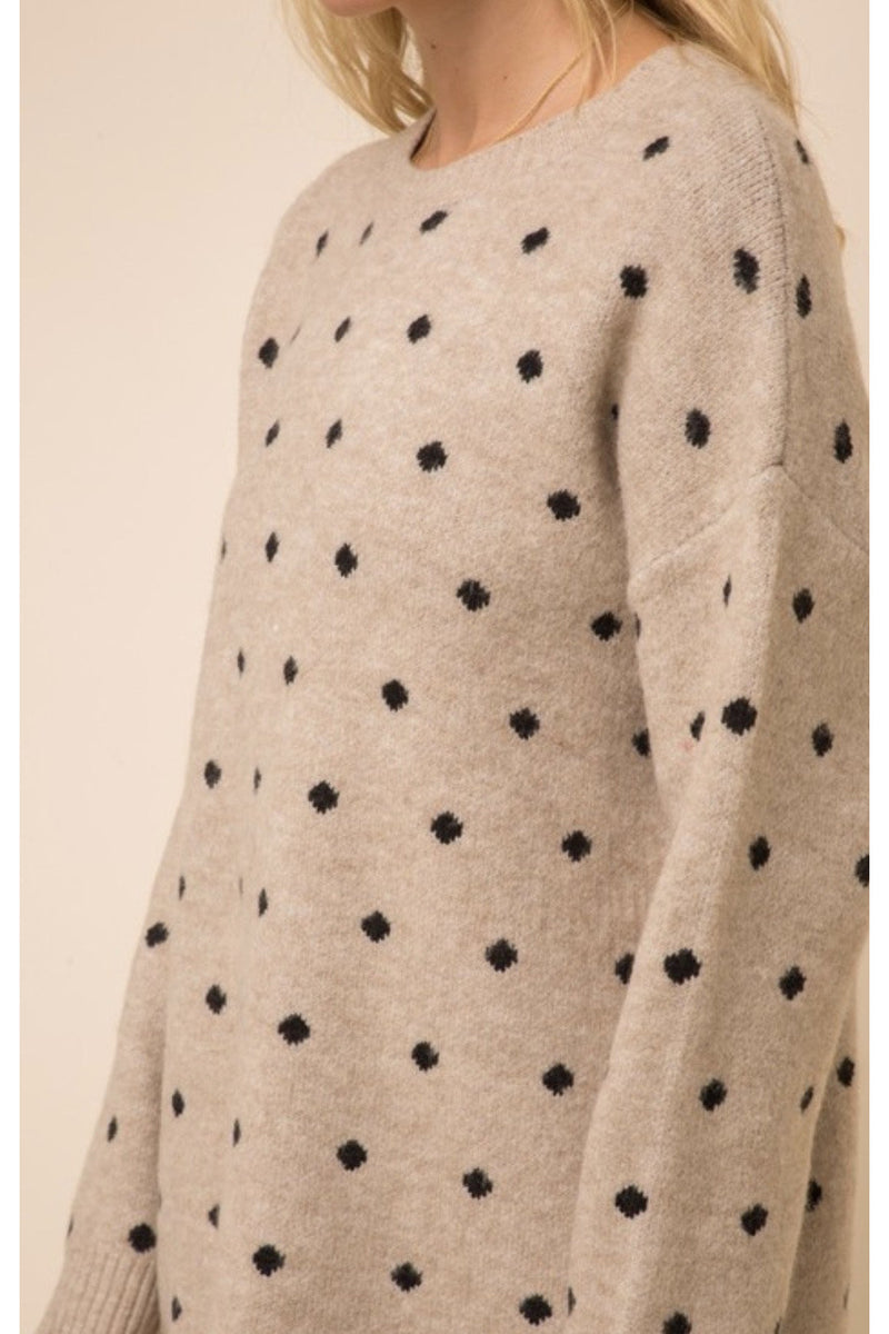 Penelope Polka Dot Sweater Dress