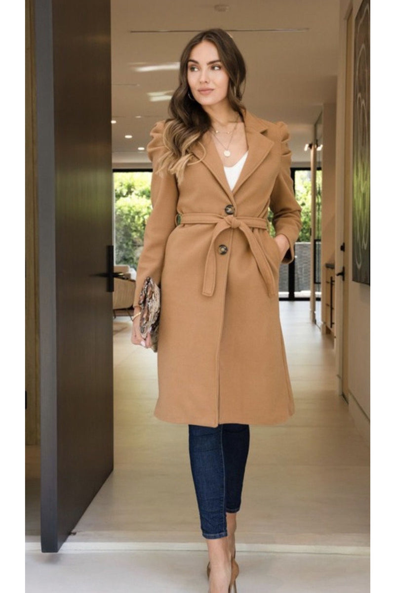 Catalina Puff Sleeve Coat