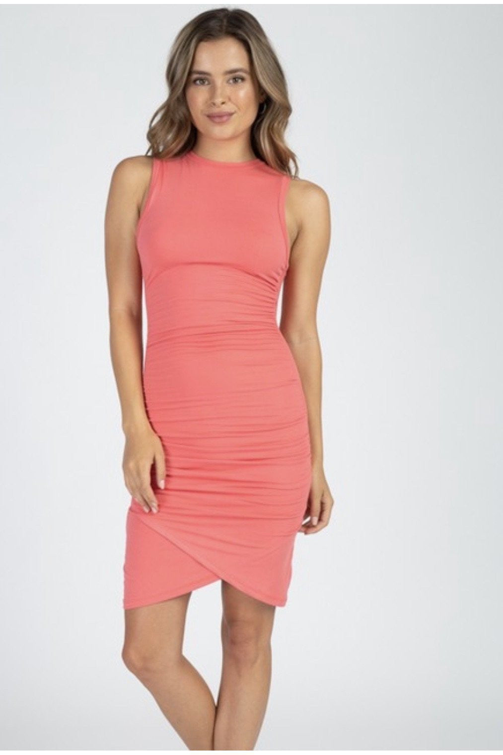 Ashlyn Dress in Coral