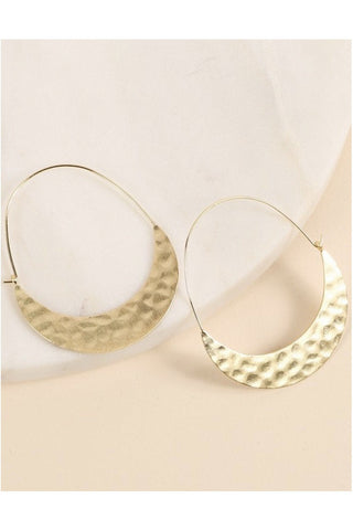 Resin Drop Hoop Earrings
