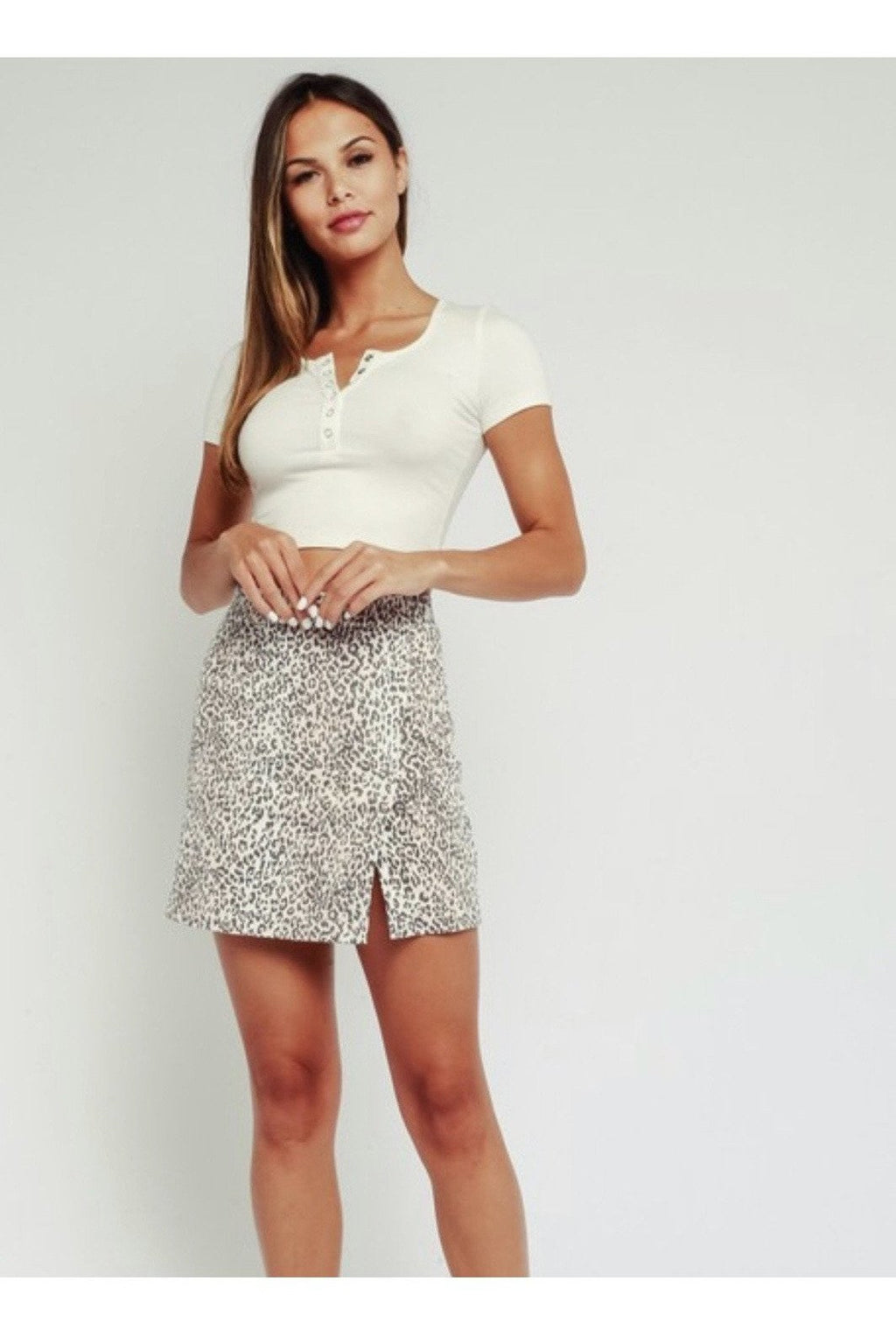 Tai Leopard Mini Skirt