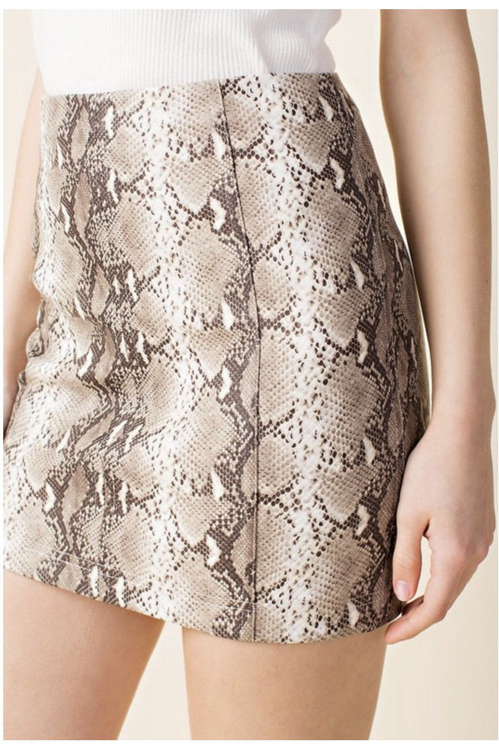 Sofia Snakeskin Mini Skirt