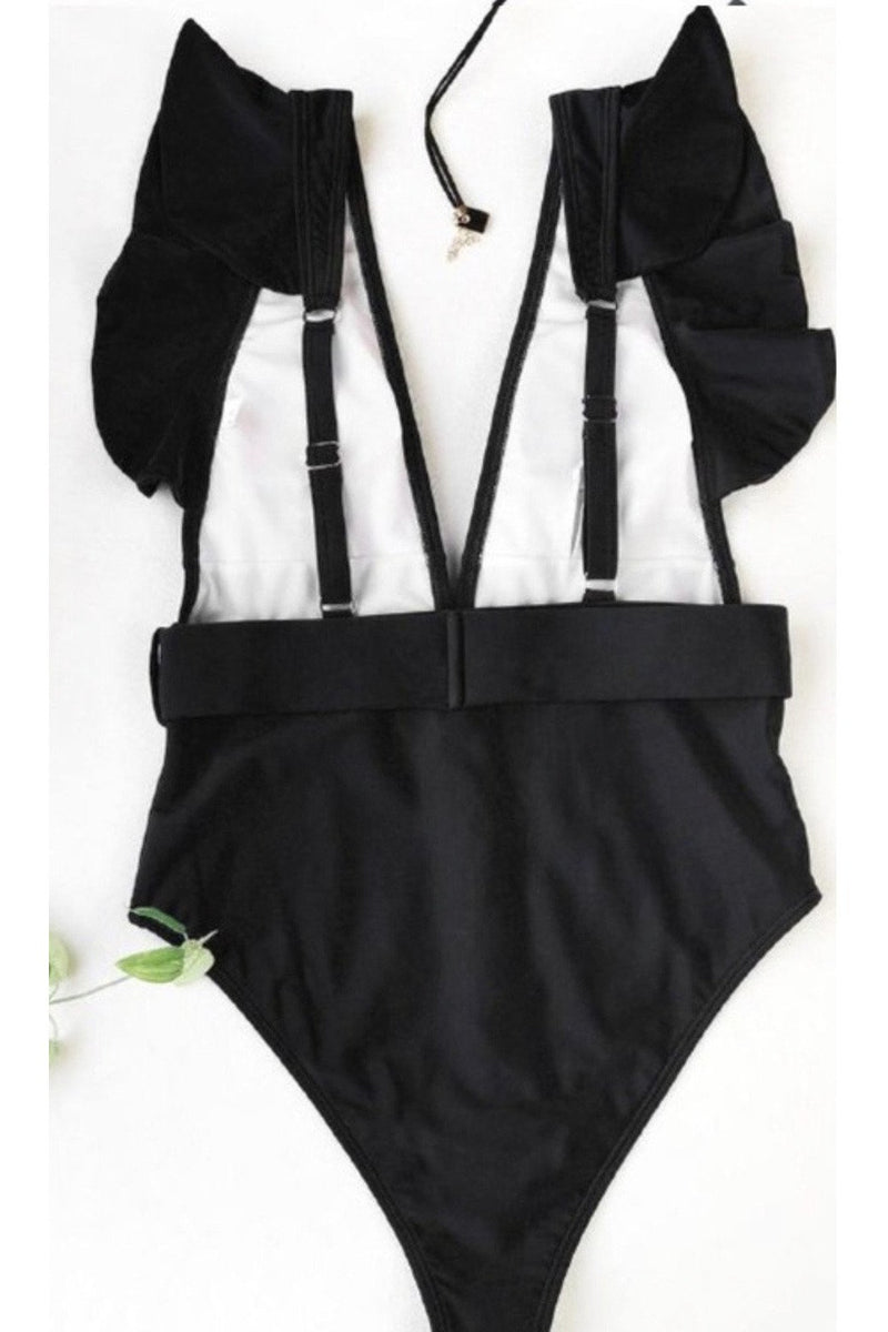 Becca One-piece Bathing Suit in Black $34
