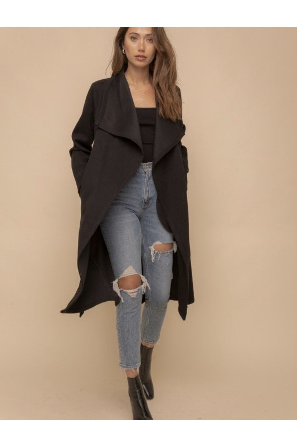 Kennedy Drape Coat