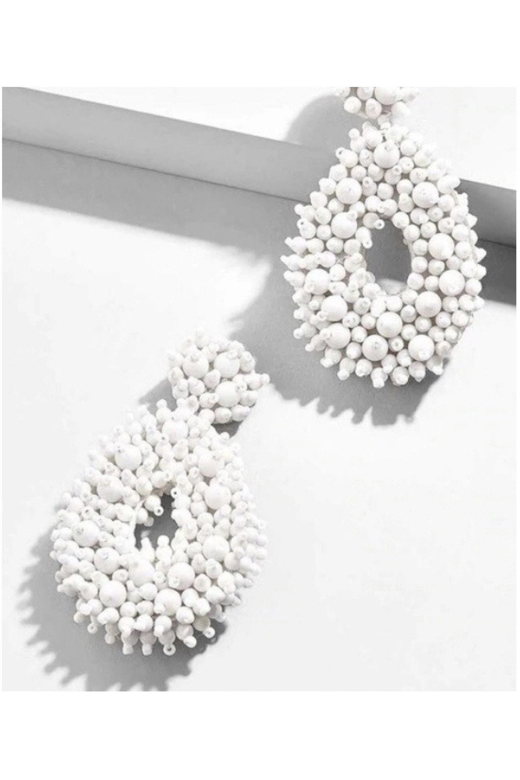 Bryanna Earrings in White - Indigo Closet