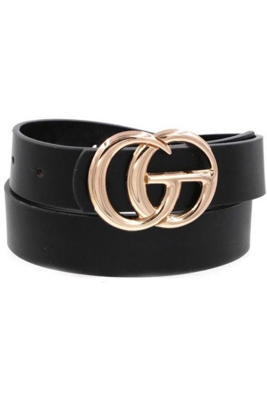 GG Belt in Black/Gold