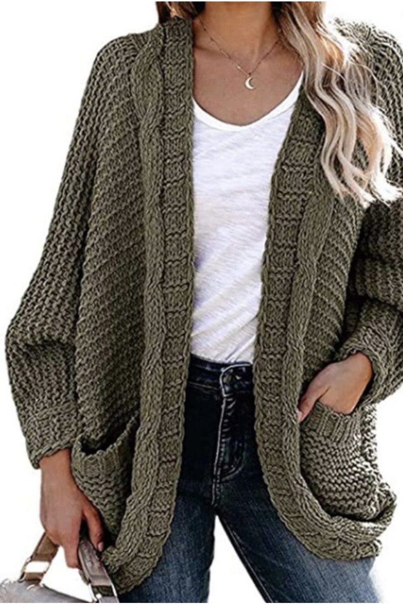 Catherine Cardigan in Olive
