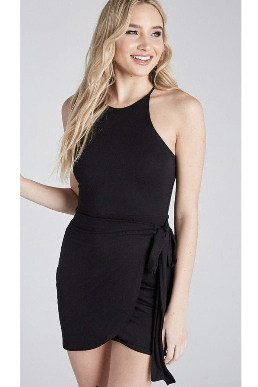 Date Night Dress in Black - Indigo Closet