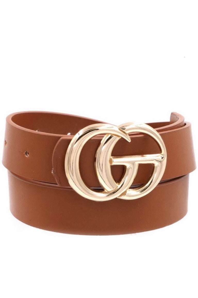 GG Belt in Brown/Gold
