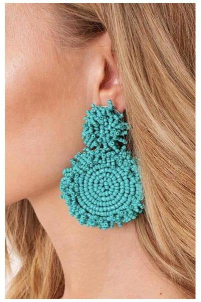 Bombay Earrings in Teal